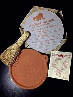 La Teggia Romagnola - teglia per piadina in terracotta refrattaria