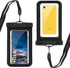 GeeRic Paquete de 2 Fundas Impermeables para Celular,Waterproof Phone Pouch Case Compatible para iPhone X/XR/XS/XS MAX/8/7/6/6s/6splus USW. bis 6,5 Pulgada