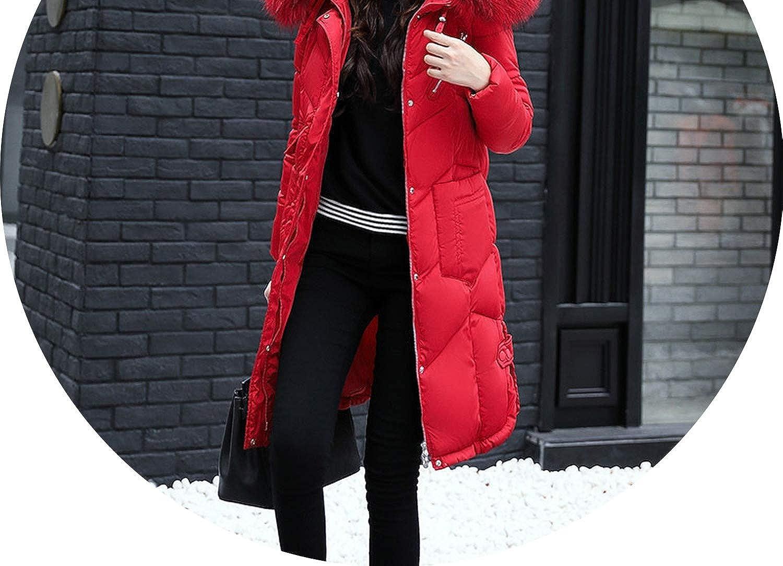 2018 Winter Long Coat Women Thicken Warm Down Jacket Zipper Hooded Coats Female Jacket