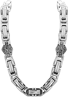 Men's Stainless Steel Double Link Necklace, Silver...
