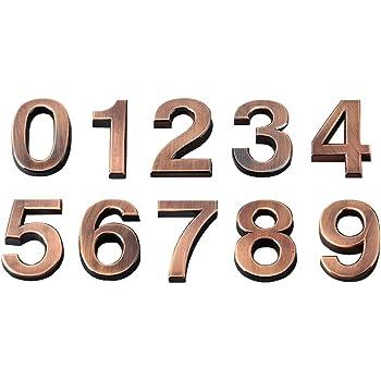 35160030/K1 Alpertec numero civico 3/bronzo satinato con viti e tasselli altezza 120/mm