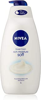 NIVEA Rich Moisture Soft Shower Cream, 1L