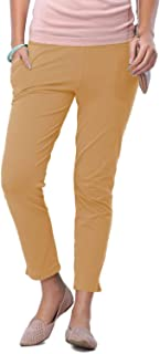 GO COLORS Women's Loose Fit Chinos