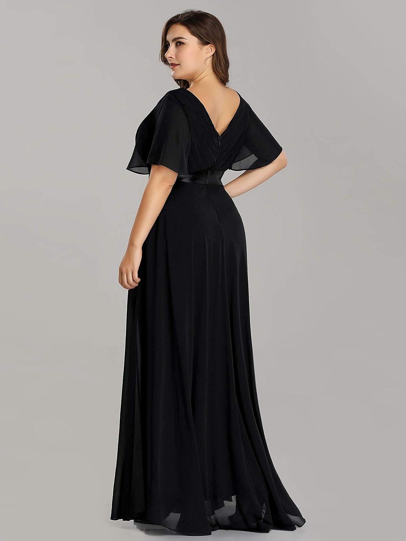 Ever-Pretty Women's Plus Size Double V-Neck Evening Party Maxi Dress 09890