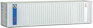 Walthers SceneMaster HO Scale Model of MOL (Gray, Blue) 40' Hi Cube Corrugated Container w/Flat Roof