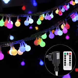 B-right Cadena de Luces, 100 LEDs 13m Tiras Bombilla Bola Redonda Decorativa Luminoso Para Hogar Interior Y Exterior para Navidad Fiesta Casa Jardín Boda Compleaño