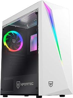 Nfortec Lynx - Torre Gaming Compatible con Placas ATX, Mini-ATX e ITX y Ventilador RGB Incluido en la Parte Trasera, color...