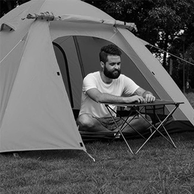 MJY Zelt Auenzelt dick regendicht 3-4 Personen Zelt Aluminiumstange winddicht wasserdicht Campingzelt mehrfarbig optional,Blau,210  210  130 cm