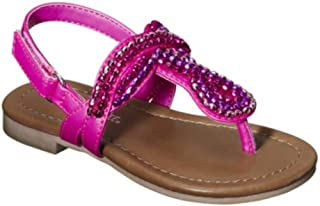 Jumper Toddler Girls Pink Beaded Thong Style Sandals