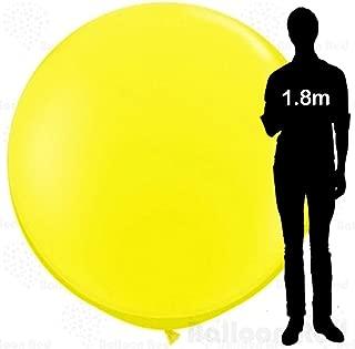 6 ft / 72 Inch Giant Jumbo Round Latex Climb-in Balloon (Premium Quality), Pack of 1, Yellow