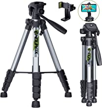 "Endurax 66"" Video Camera Tripod for Canon Nikon Lightweight Aluminum Travel DSLR Camera Stand with Universal Phone Holder ..."