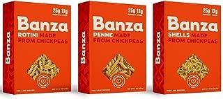 Banza Non-GMO Gluten Free Chickpea Pasta 3 Shape Variety Bundle, (1) Each: Rotini, Penne, Shells - 8 Ounces