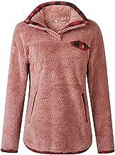 Kcatsy Ladies Warm Plush Jacket Standing Collar Fashion Plaid Stitching Sweater