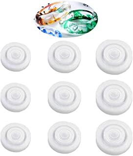 9PCS Silicone Ring Mold 3 Different Sizes Resin Epoxy Mould Jewelry Rings Resin Casting Circle Mould for DIY Jewelry Craft Making (9pc)