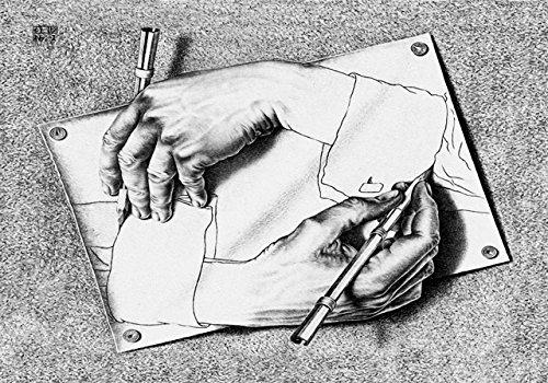 Escher Poster 18 cm 35x50 Poster Affiche Plakat Fine Art Il Negozio di Alex