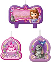Sofia the First Birthday Candles - Birthday and Theme Party Supplies - 4 per Pack