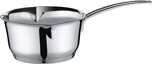 Kuchenprofi Stainless Steel Saucepan with Clad Bottom, 1.4 Quart (Pack of 6)