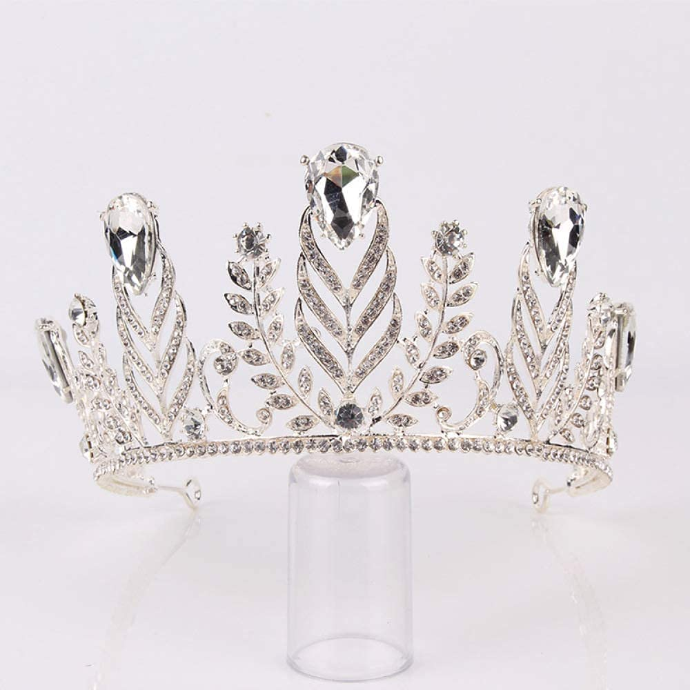FMOGG Silver Gold Crystal Crown for Bridal Wedding Head Tiara Super special Challenge the lowest price of Japan ☆ price Je