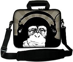 "Cute Monkey 13"" 13.3"" Laptop Carrying Bag Sleeve Case w.Shoulder Strap,Side Pocket For 13.3"" Apple Macbook Pro,Air,Macbook..."