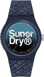سوبر دراي اوربان انالوج بعقارب كحلي من السيليكون، لون باهت ازرق للرجال - SYG302U