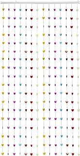 THY COLLECTIBLES Beautiful Home Decor Acrylic Beaded Curtain Door Screen Divider - Acrylic Rainbow Hearts