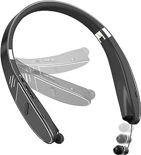 (2019進化版)4.2Bluetoothイヤホン ワイヤレスイヤホン ネックスピーカー 一台二役 28時間連続使用可 伸縮式ケーブル ネックバンド型 IPX4防水 HiFi高音質 折り畳み式 マイク内蔵 通話可能 首かけスピーカ Siri機能 CVC6.0ノイズリダクション 日本語取り扱い書付