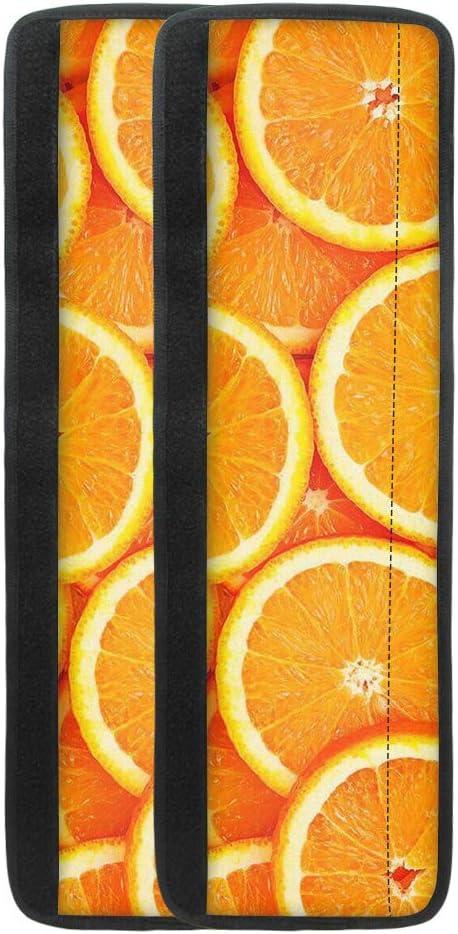 HUGS IDEA Cubierta de manija de puerta de refrigerador naranja para nevera, cocina electrodomésticos decoración horno lavavajillas, mandarina cítrica impresión manija de nevera cubierta