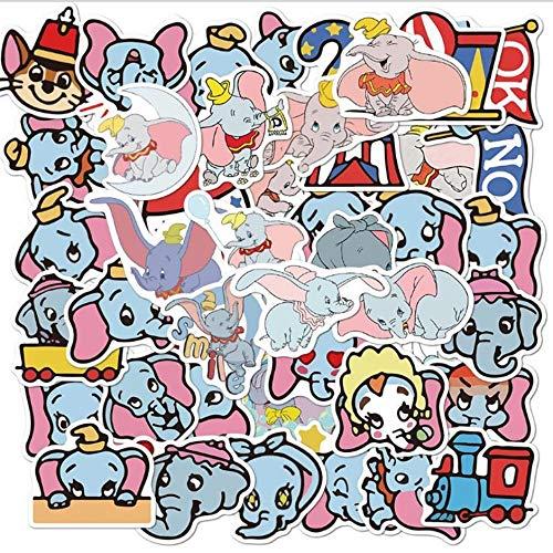 LVLUO Pegatina de Disney, monopatín de Dibujos Animados, Guitarra, portátil, Equipaje, Casco, Pegatina Impermeable, Juguete para niños, Regalo, 50 Uds.