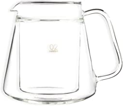 Hario V60 Double Wall Glass Coffee Server, Size 02, 500ml(16.9-ounce), Clear