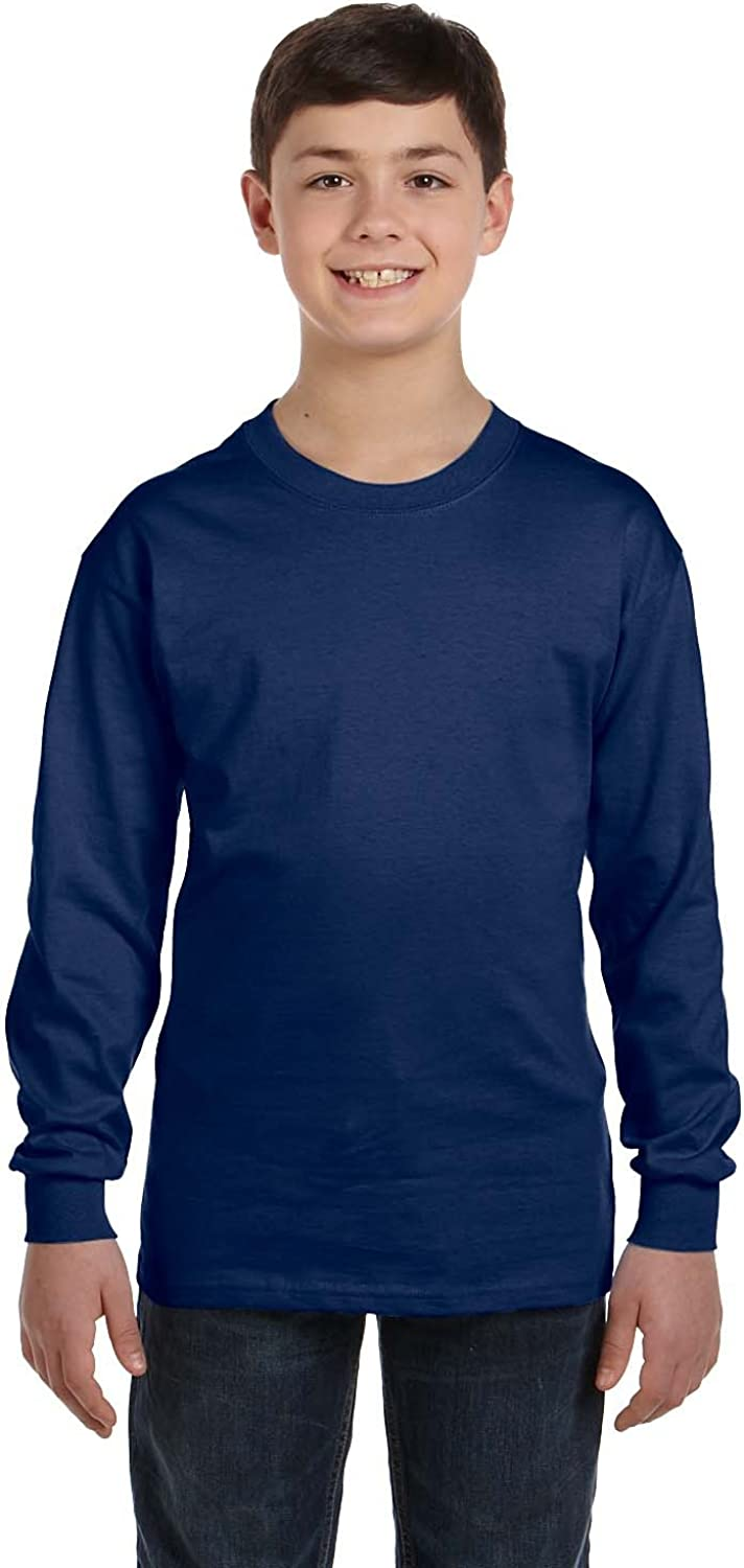 Product of Brand Gildan Youth 53 oz Long-Sleeve T-Shirt - Navy - XL - (Instant Savings of 5% & More)