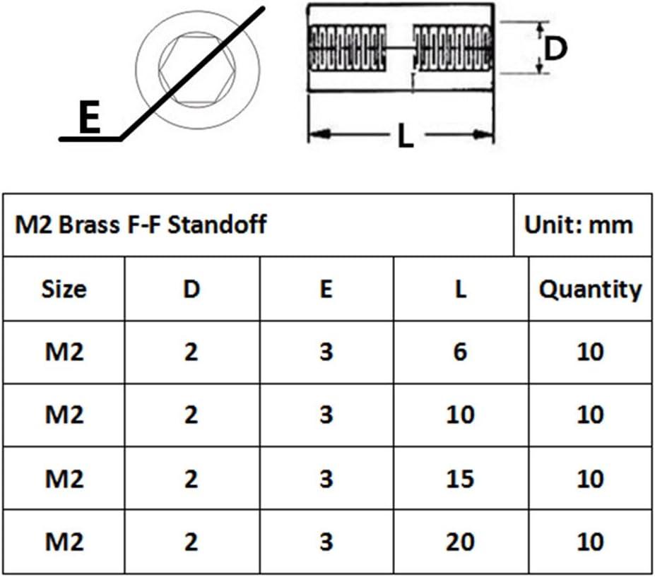 Guard4U 160pcs M4 Male-Female Brass Hex Spacer Standoff//Screw Nut Assortment Kit
