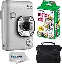 Fujifilm Instax Mini LiPlay Hybrid Instant Camera (Stone White) + Fujifilm Instax Instant Film (20 Shots) + Compact Camera...