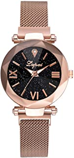 Hessimy Womens Fashion Watches New Ladies Business Bracelet Classic Luxury Exquisite Crystal Watch Casual Stainless Steel Teen Girls Gift Retro Analog Quartz Wrist Watches for Women On Sale