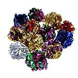 La Cabina Jouet Chat 12 pcs Balles Colorees en Papier pour Chaton Jouer