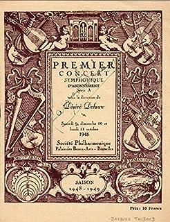 Jacques Thibaud - Program Signed Circa 1948