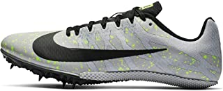 Nike Zoom Rival S 9 Track Spikes 907564-077 Size 6.5 Pure Platinum/Black - Volt Glow