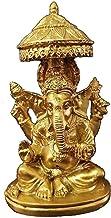 Worth Having - Buddha Statue, Ganesha Feng Shui Ornaments, Meditation Figurine, Golden Resin Elephant God Sculpture, Livin...