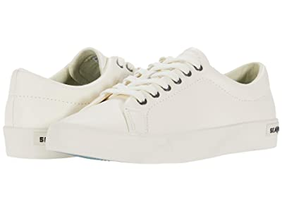 SeaVees Gallery Sneaker Tumbled Leather (White) Women
