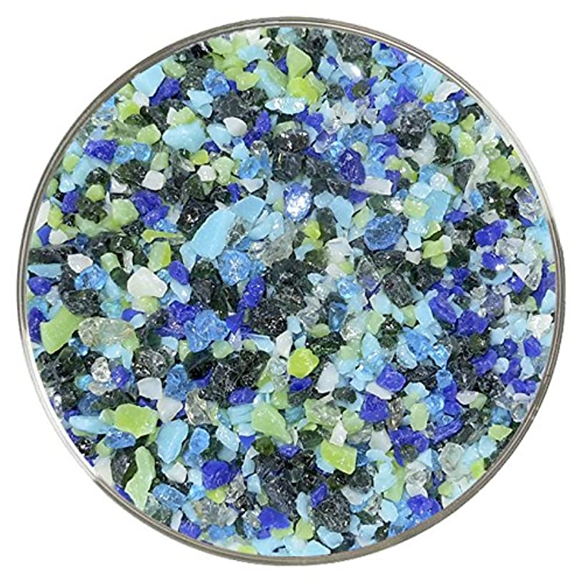 Sea Grass Designer Fusible Glass Coarse Frit Mix - 4oz - 90COE - Made from Bullseye Glass