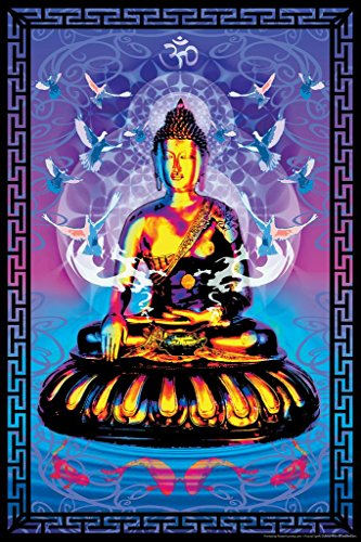 Buddha Fractal Art Print Cool Huge Large Giant Poster Art 36x54