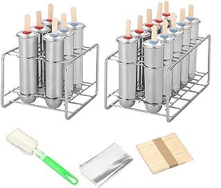 Moule /à Glace r/éutilisable avec Support de b/âtonnets /… A Acier Inoxydable 304 Greencolorful Ensemble de 10 moules /à Glace Maison