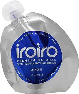 IROIRO Premium Natural Semi-Permanent Hair Color 30 VIOLET (4oz)