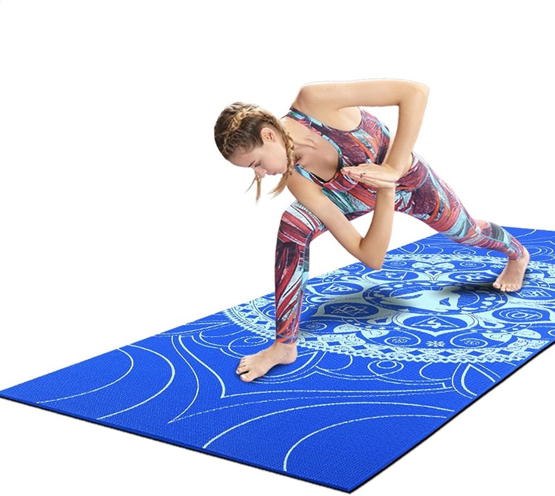 Dance & Gymnastics Mats Exercise Mats Printing Yoga mat Beginner Fitness mat 0.8cm Thick PVC Yoga mat (Size   173  61  0.8CM)