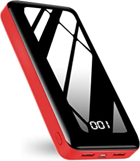 モバイルバッテリー 30000mAh大容量 2.1A 急速充電 残量表示 持ち運び便利 スマホ 携帯充電器Type-C/Micro USB入力ポート 2つ出力ポート PSE認証済iPhone/iPad/Android対応Bextoo