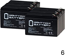 Mighty Max Battery 12V 9Ah SLA Replacement Battery for Tripplite SMART3000RM2U - 6 Pack Brand Product