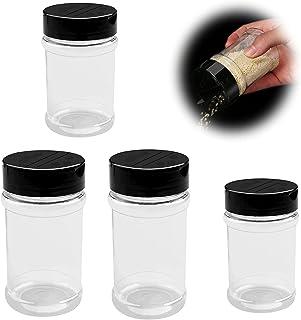 Shaker àpices Transparent Avec Couvercle Pot de Rangement Pour éPices de Cuisine Bocaux D'épices Assaisonnement Pot Pots à...