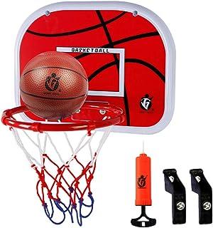 comprar comparacion Dreamon Canasta Baloncesto Infantil Habitacion con Aros Balón y Bomba, Mini Juguetes Deportivos para Interiores y Exteriores