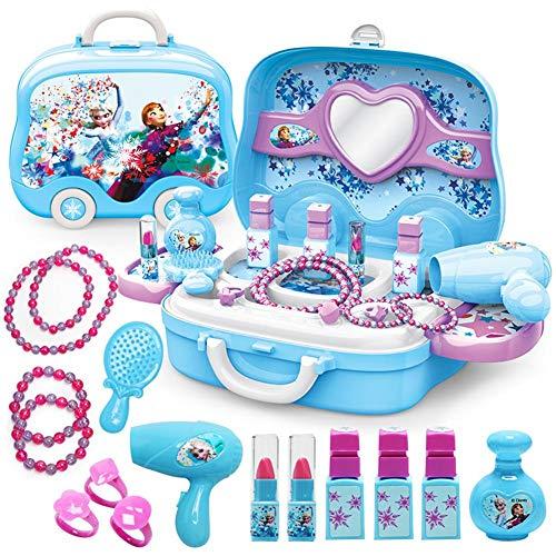 Frozen Free Fall Schminktisch Für Kinder Mit Aufbewahrungskoffer Free Fall Schminktisch Für Kinder Ungiftig Sicher Pretend Toy Set Frozen Pretend Play Jewelry Kit