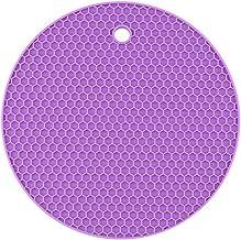 Yardwe Silicone Pot Holders Heat Resistant Non-slip Trivet Mats Hot Pads Multipurpose Trivet For Home Use (Purple)