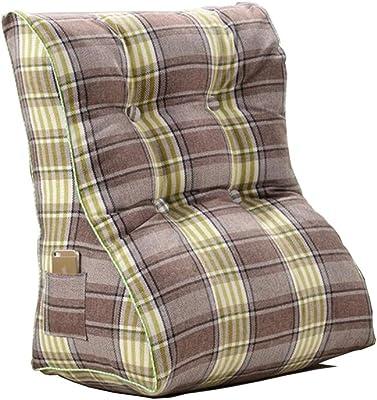 Amazon.com: Tedayy - Cojín triangular de algodón y lino para ...